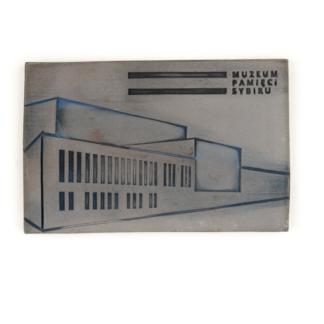 Magnes ceramiczny z budynkiem Muzeum Pamięci Sybiru