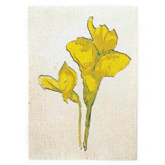 Kartka pocztowa z motywem roślinnym (akacja)