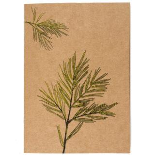 Notes z motywem roślinnym (sosna syberyjska)
