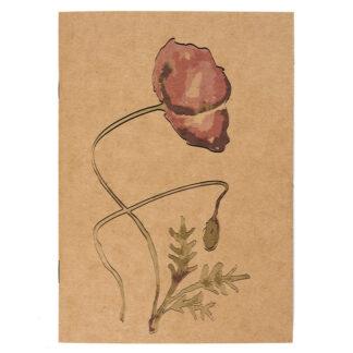 Notes z motywem roślinnym (mak)