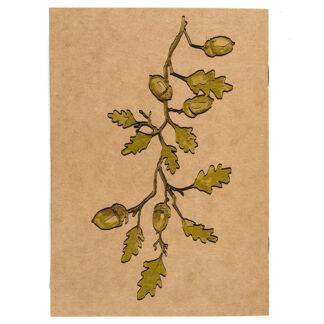 Notes z motywem roślinnym (dąb)