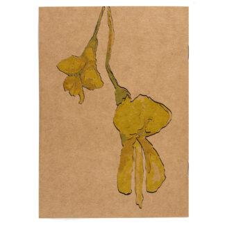 Notes z motywem roślinnym (akacja)